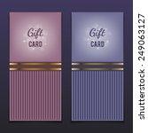 gift cards | Shutterstock .eps vector #249063127