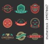 vector set of vintage hipster... | Shutterstock .eps vector #249078667