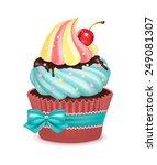 cupcake vector illustration  | Shutterstock .eps vector #249081307