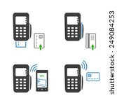 vector icons of payments...   Shutterstock .eps vector #249084253