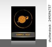 vector illustration of globe  | Shutterstock .eps vector #249096757