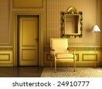 3d render of interior scene of... | Shutterstock . vector #24910777