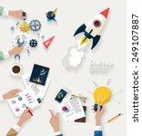 startup concept. flat design. | Shutterstock .eps vector #249107887