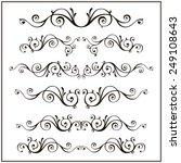 curled calligraphic design... | Shutterstock .eps vector #249108643