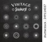vintage sunburst on chalkboard...   Shutterstock .eps vector #249114037