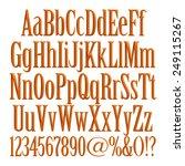 3d set of brown metallic fonts... | Shutterstock . vector #249115267