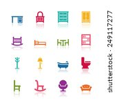 furniture icons | Shutterstock .eps vector #249117277