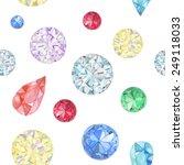 watercolor diamonds seamless...   Shutterstock .eps vector #249118033