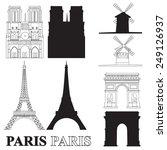 vector set with landmarks of... | Shutterstock .eps vector #249126937