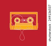 Audio Tape. Flat Design Vector...