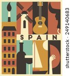 vector spain background | Shutterstock .eps vector #249140683