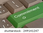 keyboard with key for commitment | Shutterstock . vector #249141247