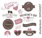 vintage valentine's day sale... | Shutterstock .eps vector #249142057