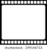 Blank Film Strip Isolated Vector