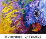 original pastel painting on... | Shutterstock . vector #249153823