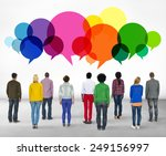 casual people message talking... | Shutterstock . vector #249156997