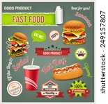 fast food vector set | Shutterstock .eps vector #249157807