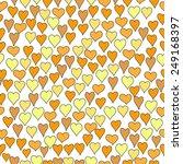 hand drawn hearts seamless... | Shutterstock .eps vector #249168397