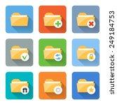 flat folder icons. vector...