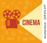 cinema retro projector... | Shutterstock . vector #249191197