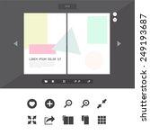 vector book read online icons... | Shutterstock .eps vector #249193687