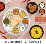 food illustration   indian food ... | Shutterstock .eps vector #249204163