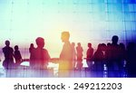 silhouette global business... | Shutterstock . vector #249212203