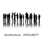 silhouette business people... | Shutterstock . vector #249218677