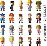 set of vector cute character... | Shutterstock .eps vector #249233167