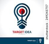 arrow hit target in light bulb...   Shutterstock .eps vector #249243757