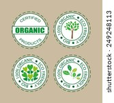 labels for organic products ... | Shutterstock .eps vector #249248113