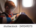 little child with tablet... | Shutterstock . vector #249249373