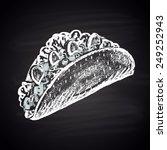 tacos sharp illustration of... | Shutterstock .eps vector #249252943