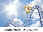bitcoin rollercoaster price... | Shutterstock . vector #249263497