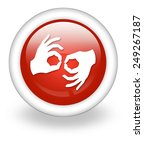 icon  button  pictogram with... | Shutterstock . vector #249267187