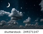 backgrounds night sky with... | Shutterstock . vector #249271147