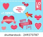 valentine's day set | Shutterstock .eps vector #249273787
