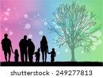 family silhouettes | Shutterstock .eps vector #249277813