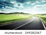 asphalt road in tuscany italy  | Shutterstock . vector #249282367