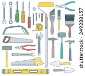 vector colored outline various... | Shutterstock .eps vector #249288157