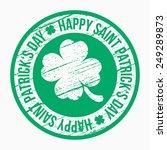 saint patrick's day design  ... | Shutterstock .eps vector #249289873
