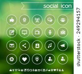 social icons on blurred...