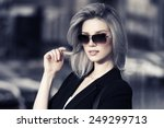 young fashion business woman in ... | Shutterstock . vector #249299713