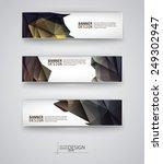 business design templates. set... | Shutterstock .eps vector #249302947