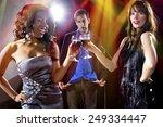 women seducing a man to buy... | Shutterstock . vector #249334447
