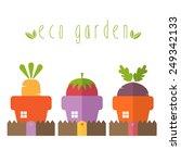 illustration concept of garden... | Shutterstock .eps vector #249342133