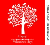 heart tree. valentine's day... | Shutterstock .eps vector #249359887