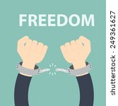 freedom concept   male hands... | Shutterstock .eps vector #249361627