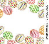 easter eggs isolated on white... | Shutterstock .eps vector #249373027