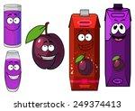 cheerful purple ripe cartoon...